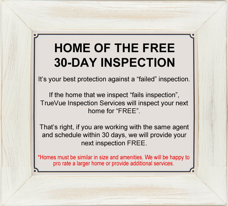 HOME OF THE FREE 30-DAY INSPECTION